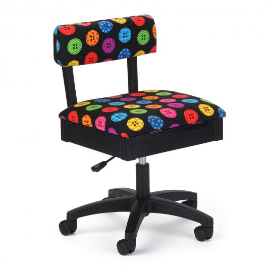 Bright Buttons Hydraulic Sewing Chair - Arrow Sewing Cabinets